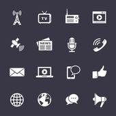 Conjunto de iconos de los medios de comunicación — Vector de stock
