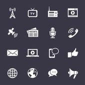 Media icons set — Vector de stock