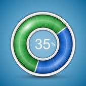 Circular progress bar — 图库矢量图片