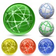 Abstract Globe Icon Set. — Stok Vektör