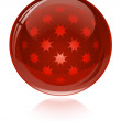 Red glossy abstract sphere. — Stock Vector