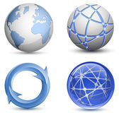 Abstract Globe Icons Set. Vector Illustration — Stock Vector
