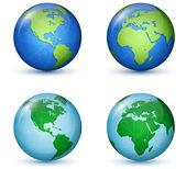 地球惑星。世界地図 — ストックベクタ