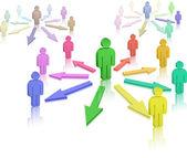 Social Network. Interpersonal relations. — Stock Vector