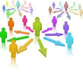 Médias sociaux. réseau social — Vecteur