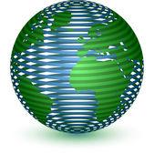 Streszczenie glob ikona — Wektor stockowy