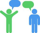 Social Media. Communication Concept. — Stock Vector