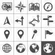 Stock Vector: Cartography and topography vector icons