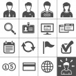 Telecommuting icons set - Simplus series — Stock vektor