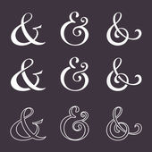 Ampersand collection — Stok Vektör