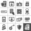 Stock Vector: IT Security icons. Simplus series
