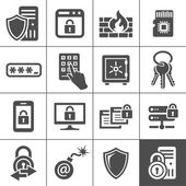 IT Security icons. Simplus series — Stockvector