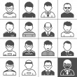 Men users icons — Vector de stock