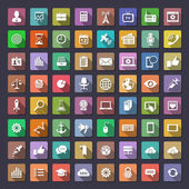 Big flat icons collection — Stock Vector
