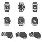 Smartwatch icons — Stock Vector