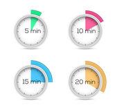 计时器集合 — 图库矢量图片