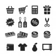 Shopping icons set — Stock Photo