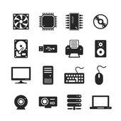Computer Hardware Icons — Stock Photo