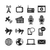 Media icons set — Stock Photo
