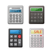 Calculator collection — Stock Vector