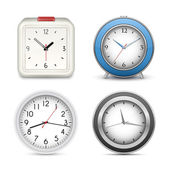 Collection of clocks and alarms — Stok Vektör