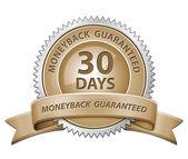 30 Day Money Back Guaranteed Sign — Stock Photo