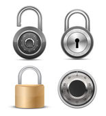 Collection of locks — Stock Vector