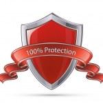 ������, ������: Shield symbol 100 percent protection