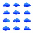 Cloud shapes collection — Stock Vector #47888115