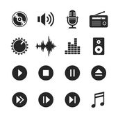 Music and sound icons - Simplus series — Stock Photo