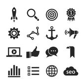 Search engine optimization icon set — Stok fotoğraf