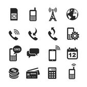Mobile account management icons — 图库照片