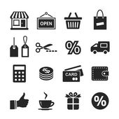 Shopping Icon Set. Simplus series — Stockfoto