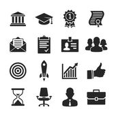 Business career icons set - Simplus series — Foto de Stock