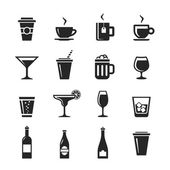 Drinks and beverages icons — Stock Photo