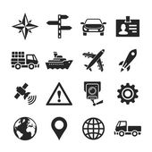 Transportation icons set. Simplus series — 图库照片