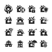 Property insurance icons — Stockfoto
