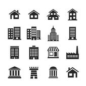 Buildings Icons — Stock Photo