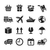 Logistics icons set. Simplus series — Foto Stock