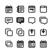 Notes, memos and plans icons — Stock Photo