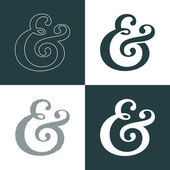 Ampersand collection — Stock Vector