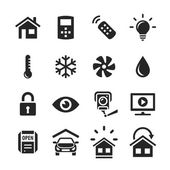 Home Automation Control Systems Icons — Stock Photo