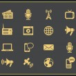 Media icons set — Stock Vector #49513115