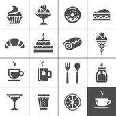Cafe and confectionery icons — Stock Vector