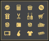 Shopping icons set — Stok Vektör