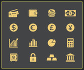 Financal icons set — Stock Vector