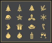 Christmas icons set — Stok Vektör