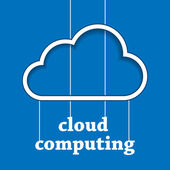 Cloud computing template — Stockvektor