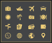 Travel and tourism icons — Stok Vektör