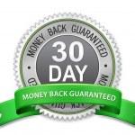30 dagars pengarna tillbaka garanteras etikett — Stockvektor  #49957729